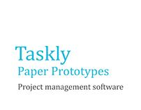 Taskly Paper Prototypes