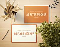 A6 Landscape Flyer Mockup