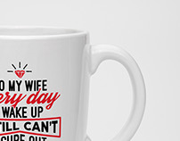 Text Based Typography Mug Designs