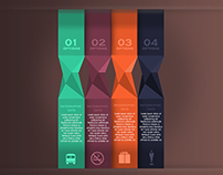 Infographic Spiral Options Banner