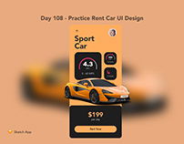 Day 108 - Practice Rent Car UI Design