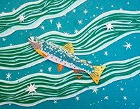 Paper Sculpture: Swimming through the River of Stars