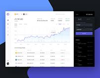 Crypto Dashboard Experience Design Concept