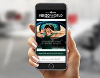 Kenzo World & Spotify // Mobile Design