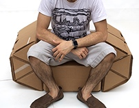 Modular Reconfigurable Cardboard Chair