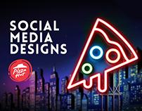 Pizza Hut - Social Media Design