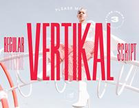 Vertikal Typeface — Regular, Outline, Brush Script