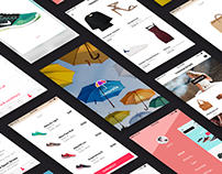 Umbrella iOS e-commerce UI Kit