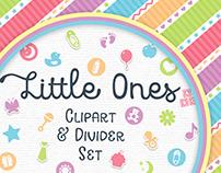 Little Ones Lite: Clipart & Divider Set
