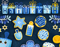 Hanukkah Stickers Snapchat