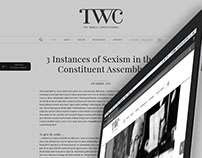 The Weekly Constitutional - Blog (Logo and UI)