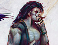 Lobo VS. Wolverine- Phil Hale Tribute