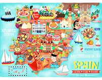 Map of Spain Illustration