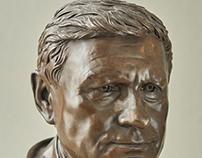 Profesor Leszek Balcerowicz. Sculpture in Bronze