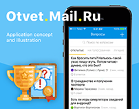 Otvet.Mail.Ru iOS application concept