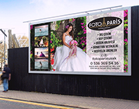 """Foto Paris"" Photography Studio Billboard Design by me"
