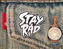 """Stay Rad enamel pin"""