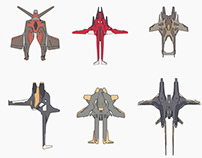3d sketches - Space fighters