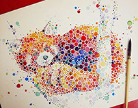 Colorful dotted animals 2
