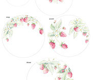 Strawberry Vine Dinnerware