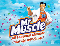 Mr Muscle Advertising Poster