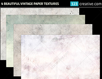 4 Beautiful vintage paper backgrounds
