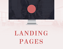 Landing page for a law company