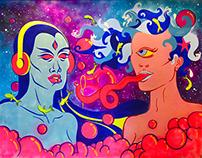 Cosmic Coma - Mural