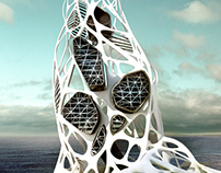 Hydra Skyscraper - Tesla research facility Evolo 2011