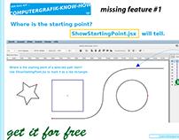 Javascript for Illustrator ShowStartingPoint