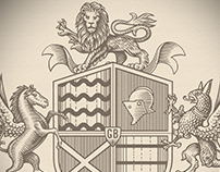 Grace & Blue Partnership Crest rendered by Steven Noble