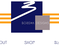 Bozena Designs website redesign