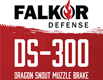 Falkor Defense packaging, apparel, marketing materials