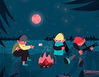Camping Illustration Animation