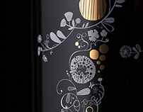 Korlat wine packaging illustration