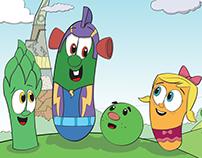 Coloring VeggieTales Super Comics: LarryBoy/Rude Beet