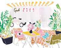 Grub Food Van Illustration
