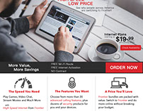 Frontier Sales Landing Page