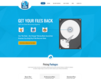 Data Rescue Company Website Design