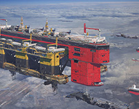 Consortium's Oil Rig transport