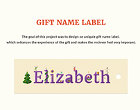 Gift Name Label