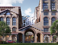 """Visualization of the UP-residential quarter """"Rimsky"""""""