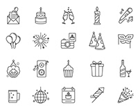80 Celebration & Party Vector Icons