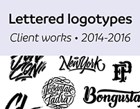 Lettered logos 2014 - 2016 [Client works]