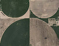 AERIAL VIEWS CIRCLE IRRIGATION & CATTLE FARMS