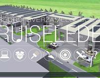 Film projectvoorstelling bedrijfsverzamelgebouw
