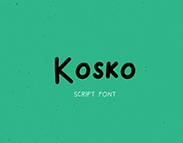 Kosko Script Font