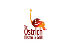 The Ostrich Bistro & Grill Logo Samples