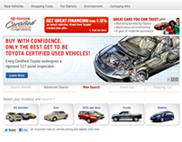 Toyota Certified Used Vehicles Website