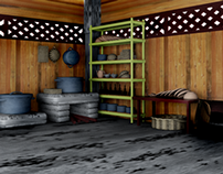 Malay Wooden House Interior